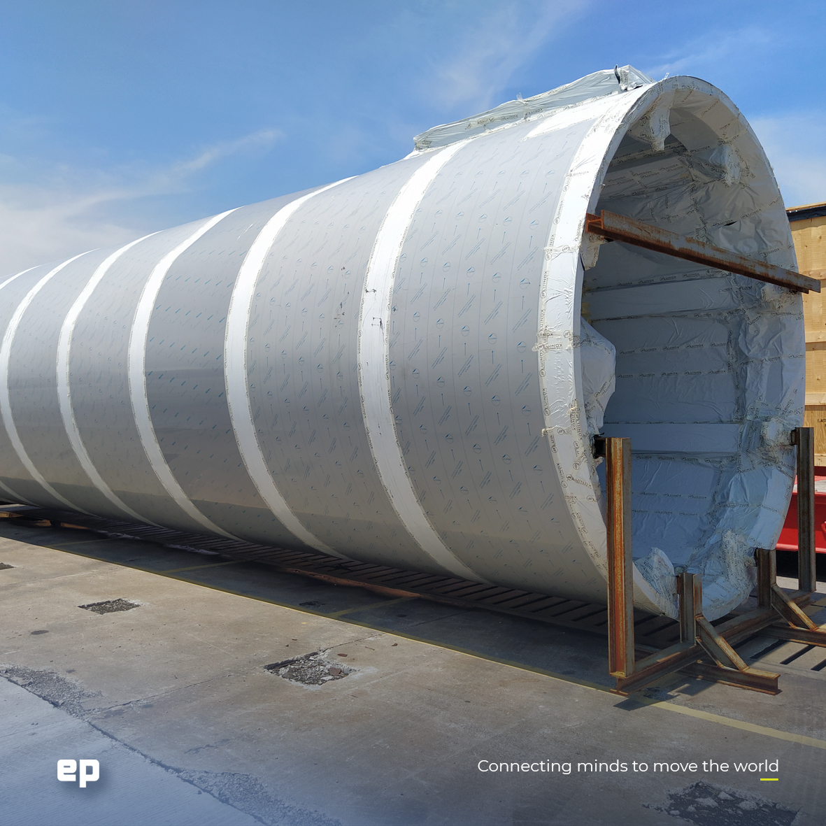 The first silo arriving in July